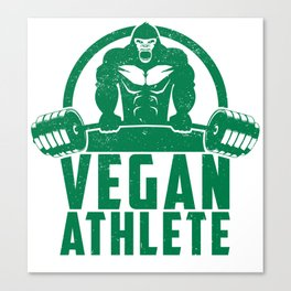 Vegan Athlete Muscle Gorilla - Funny Workout Quote Gift Canvas Print