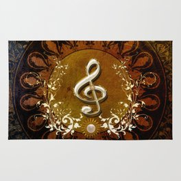 Music, wonderful decorative clef Rug