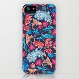 Elegant Asian Floral Pattern of Health and Wealth iPhone Case
