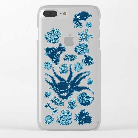 Cephalopods - Bioluminescence Clear iPhone Case