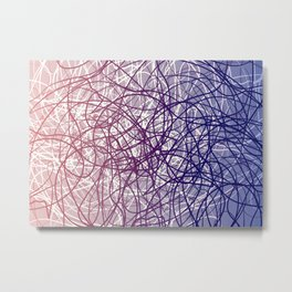 Neural Blue Metal Print