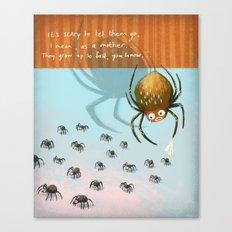 Scared spider Canvas Print