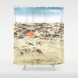 Alien Pods In Desert Shower Curtain
