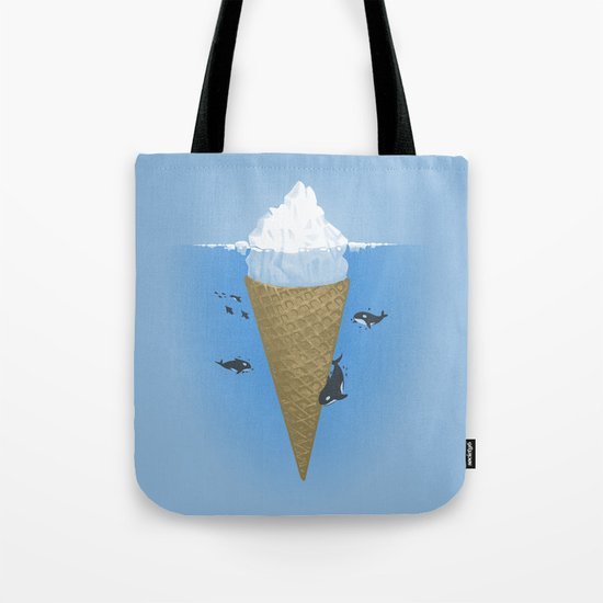 Hidden part of icebergs Tote Bag