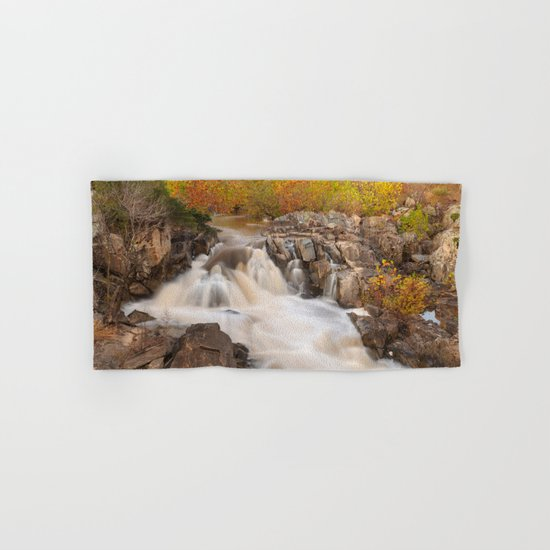 Great Falls Autumn Cascades Hand & Bath Towel