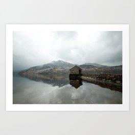 Loch Katrine Boat House Art Print