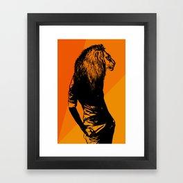 Iron Lion Zion Framed Art Print