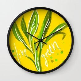 Live Green Wall Clock