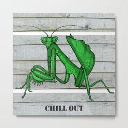 Priscilla the praying mantis Metal Print