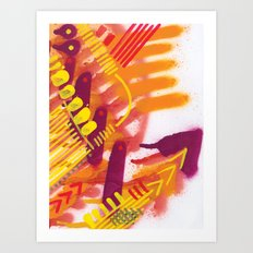 Yellow on Orange Art Print