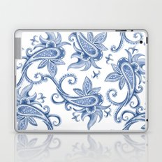 Paisley: Monaco Blue Laptop & iPad Skin