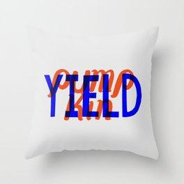 Yield, Pumpkin Throw Pillow