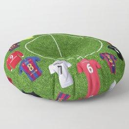 Football soccer best players clock Floor Pillow