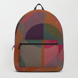 Warm-coloured geometric pattern Backpack