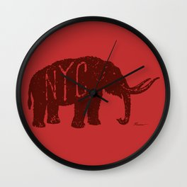 "Mastodon NYC - ""Early Settler"" Wall Clock"