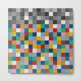Colour Block with Topper #2 Metal Print