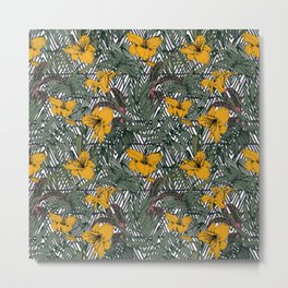 Tribal tropical bloom Metal Print