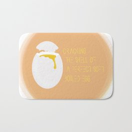 Cracking the shell of a perfect hard boiled egg     By Sisley Leung Bath Mat