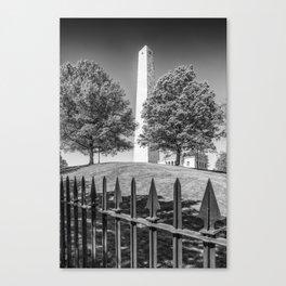 BOSTON Bunker Hill Monument | Monochrome Canvas Print
