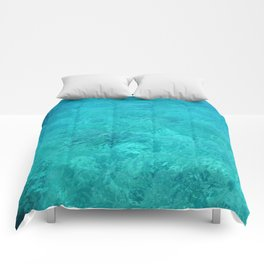 Clear Turquoise Water Comforters