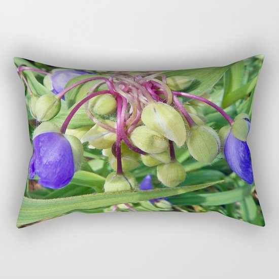 Spiderworts Flower Stems Rectangular Pillow