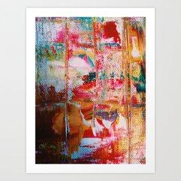 Bleeding Paint Art Print