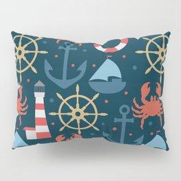 Sea blue pattern Pillow Sham