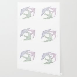 Sketch of Swallow Birds Design in Motion Symbolism of Freedom and Unity Wallpaper