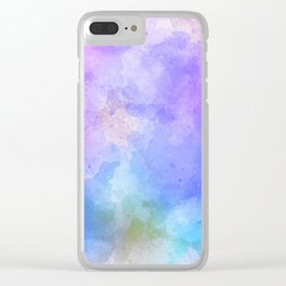 Artistc backdrop with splashes of colour Clear iPhone Case