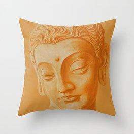 Siddharta Gautama oranje Throw Pillow