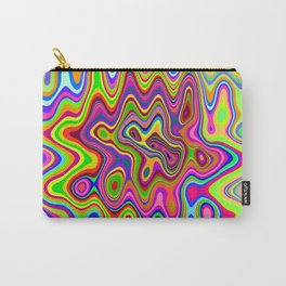 Psychedelic Glowing Colors Pattern Carry-All Pouch