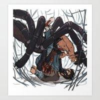 Arachne Spook & Rocky Art Print