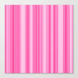 Pink Candy Stripe Canvas Print