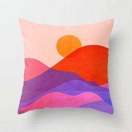 Abstraction_SUN_OCEAN_BEACH_Minimalism_010A Throw Pillow