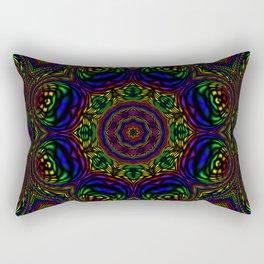 Rainbow Kaleidoscope 3 Rectangular Pillow