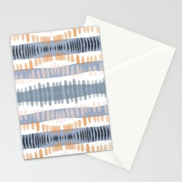 Tribal Watercolor Stripes Stationery Cards