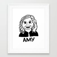 amy poehler Framed Art Prints featuring Amy Poehler by Flash Goat Industries