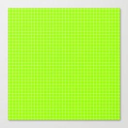Green Grid White Line Canvas Print