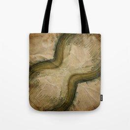 PLANET PIXEL HOURGLASS Tote Bag