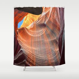 Geology Alive - Time Passage of Upper Antelope Canyon Shower Curtain