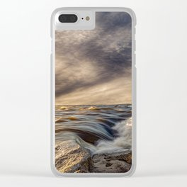 Where The River Kisses The Sea Clear iPhone Case