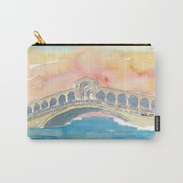 Venice Italy Rialto Bridge at Sunset Carry-All Pouch