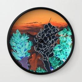 DESERT NIGHT Alpinia Purpurata Wall Clock