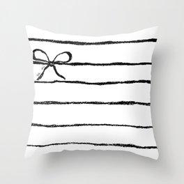 Perky jail Throw Pillow