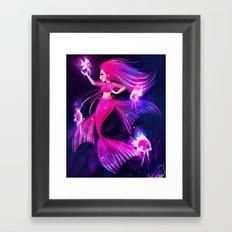 Angelfish Mermaid Framed Art Print