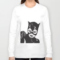 selena Long Sleeve T-shirts featuring I Don't Know About You Miss Kitty But I'm Feeling...So Much Yummier. by Sherwood Designs