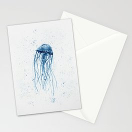 Blue Jellyfish Stationery Cards