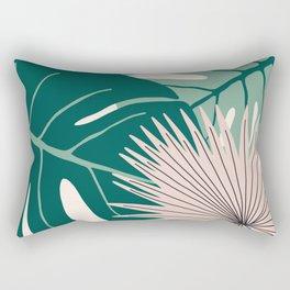 Abstract Modern Tropical Jungle Rectangular Pillow