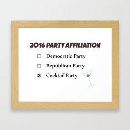 USA Political Affiliation 2016 Framed Art Print
