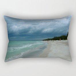 Moody  Sky Over Florida Beach Rectangular Pillow